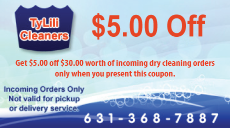 Dry cleaners discount coupons